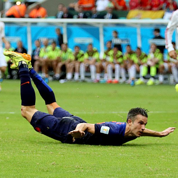 Most atlethic goal in World Cup ever Van Persie 13th of June 2014