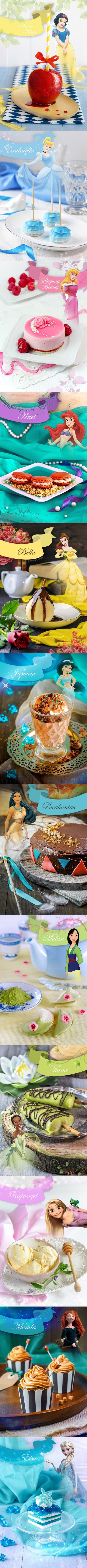 Desserts inspired by Disney Princesses - hope you like it!