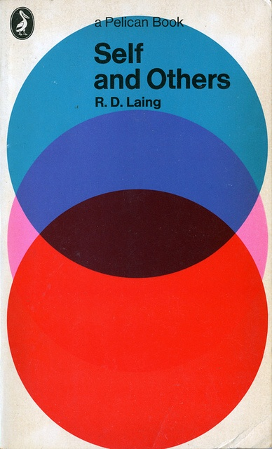 """Self and Others"" by R.D. Laing, cover design by Germano Facetti, published by Pelican Books."