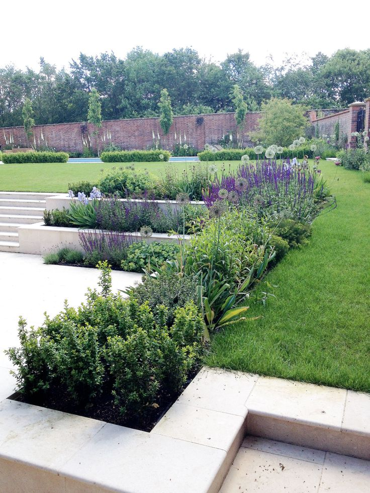 Amy Perkins Garden Design - Project: Country Estate - Hampshire Limestone paving / contemporary Pool Garden www.amyperkinsgardendesign.com