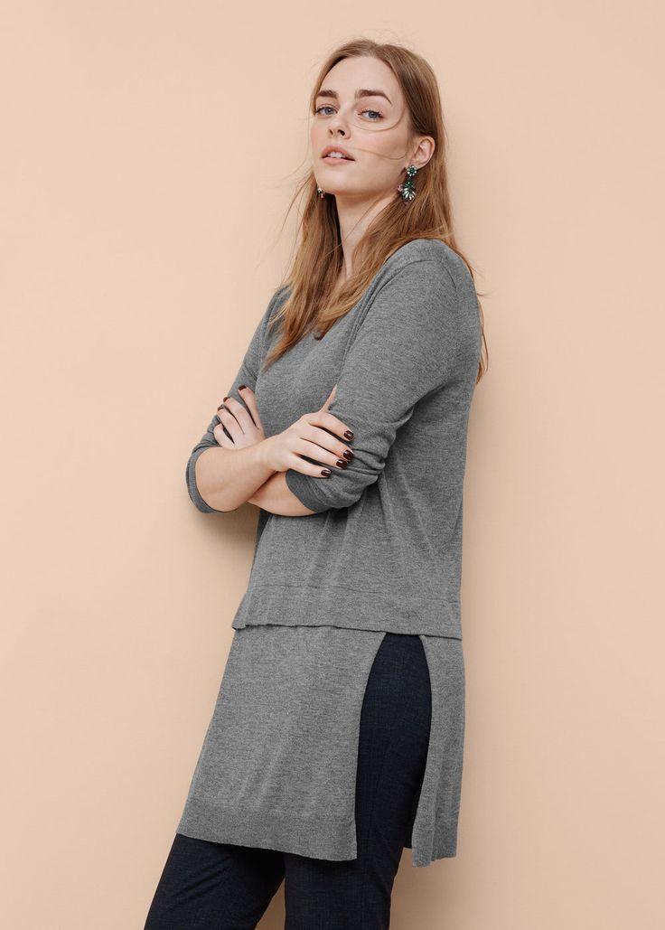 Dlouhý bavlněný svetr - Kardigany a svetry Velké velikosti | OUTLET Česká republika