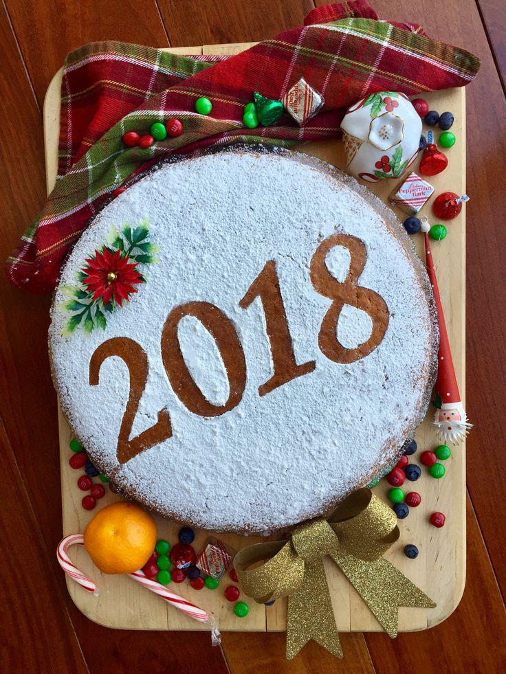 Traditional Greek vasilopita New Year's Day cake | image by Jana Apergis
