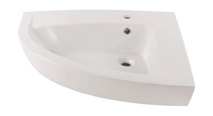 Für schmale Räume Ein kleines Badezimmer ist schwierig zu gestalten. Lösen Sie das Problem einfach mit dem Eckwaschbecken Mabouya von Livingpool. Das weiße, 70 cm breite Modell lässt sich mühelos in eine Nische setzen. In der Höhe...