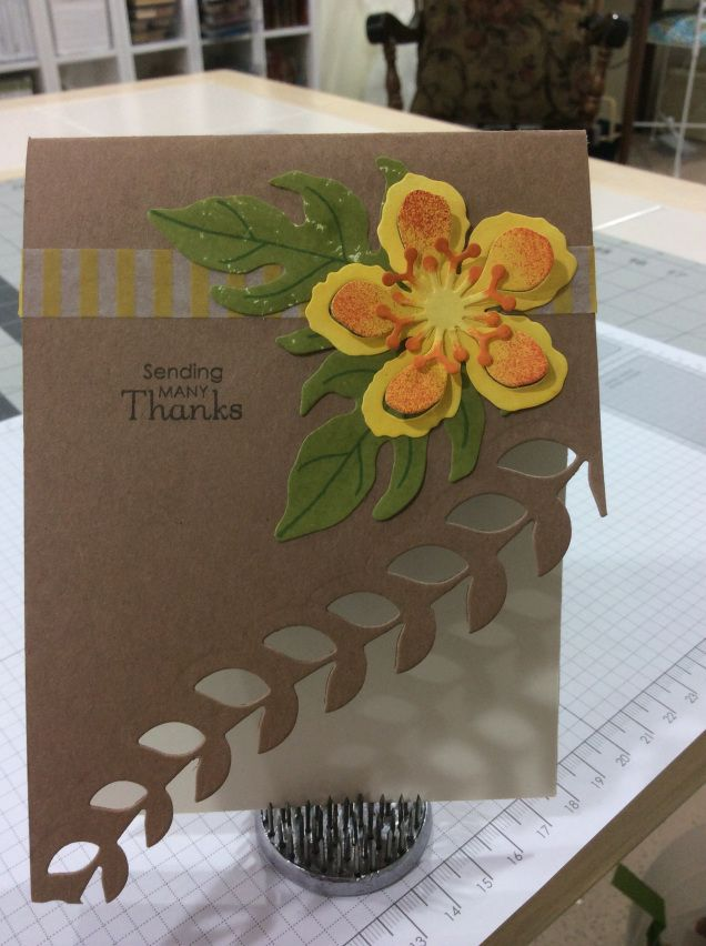 Sneak Peek! - Stampin' Up Botanical Blooms stamp set - Stampin' Up Botanical Builder Framelits