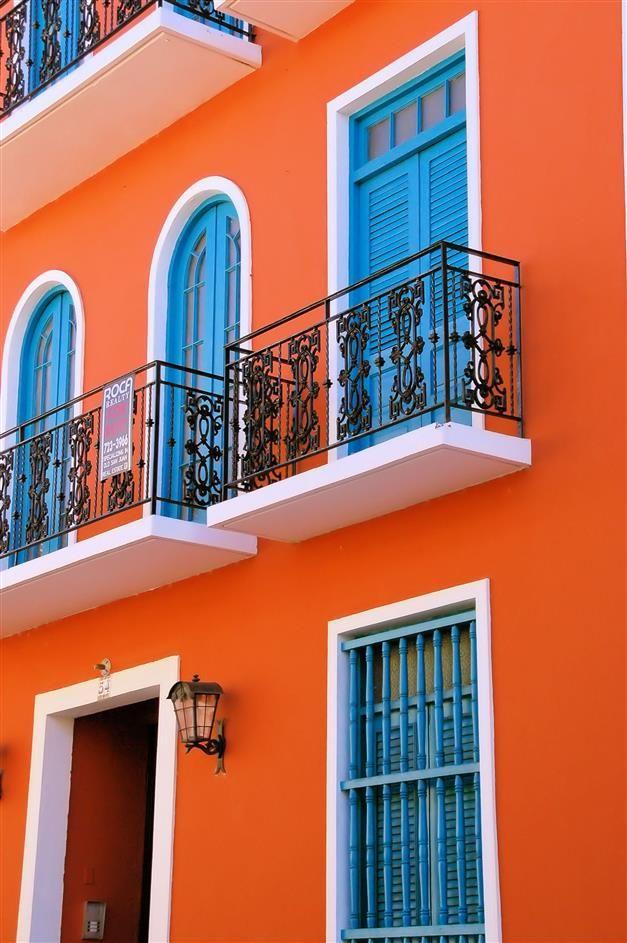 Maison Couleur Orange Exterieur