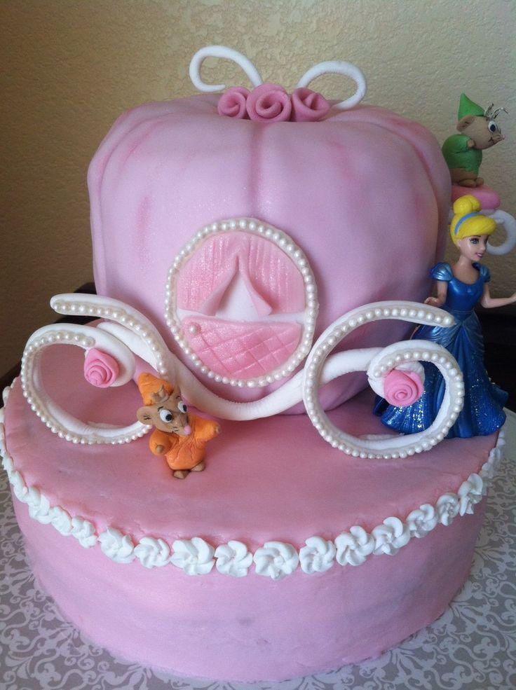 Delightful Cinderella Baby Shower Cake