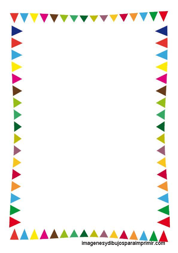 Folios infantiles para imprimir, folios en tamaño A4 con dibujos infantiles de animales del mar o banderitas para fiestas.Elige tu folio i...