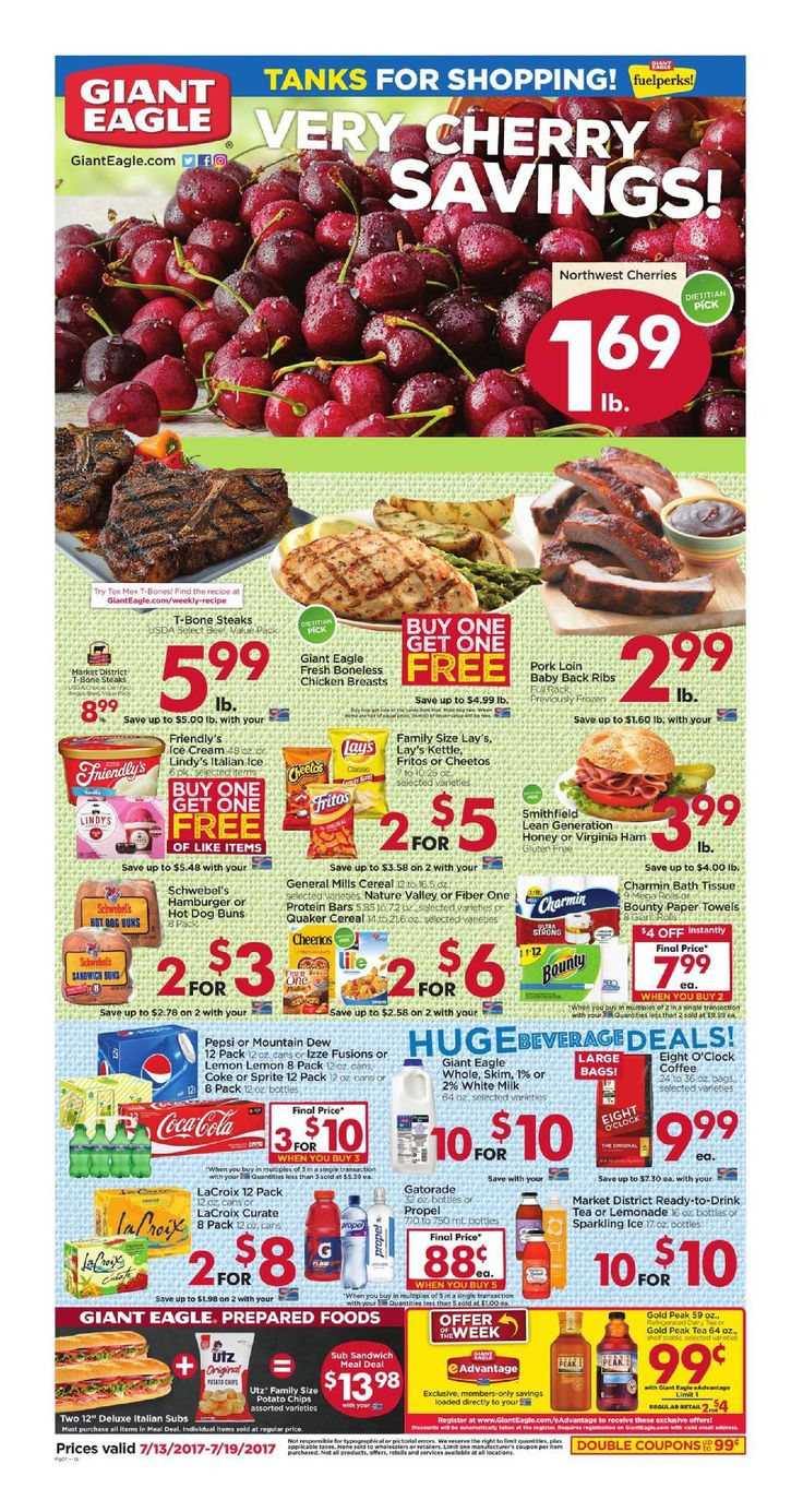 Giant Eagle Weekly Ad July 13 - 19, 2017 - http://www.olcatalog.com/grocery/giant-eagle-weekly-ad.html