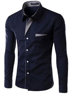 Dress Fashion Quality Long Sleeve Shirt Men Design,Formal Casual Male Dress Shirt.13 colors.M-XXXXL