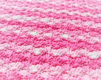 Pink Baby Blanket, Crochet Baby Blanket, Pink Baby Blanket, Chunky Blanket, Baby Afghan, Crochet Blanket, Baby Girl Blanket, Photo Prop Gift