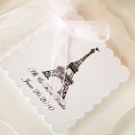 French themed wedding favour tags