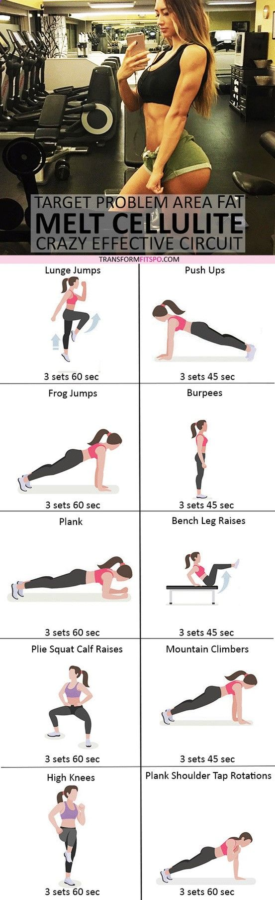 #womensworkout #workout #femalefitness Repin and share if this workout melted away your cellulite! Click the pin for the full workout.