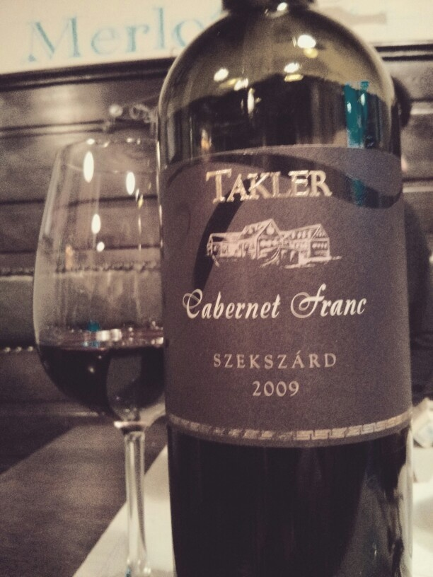 Newcomer on the winelist.  Cabernet Franc 2009, HU By glass as well.  @Leslie Mariani