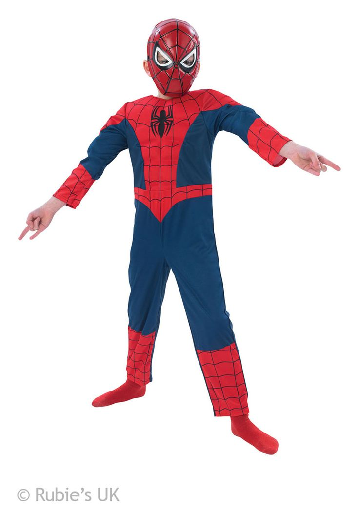 Kids Spiderman Muscle Chest Costume