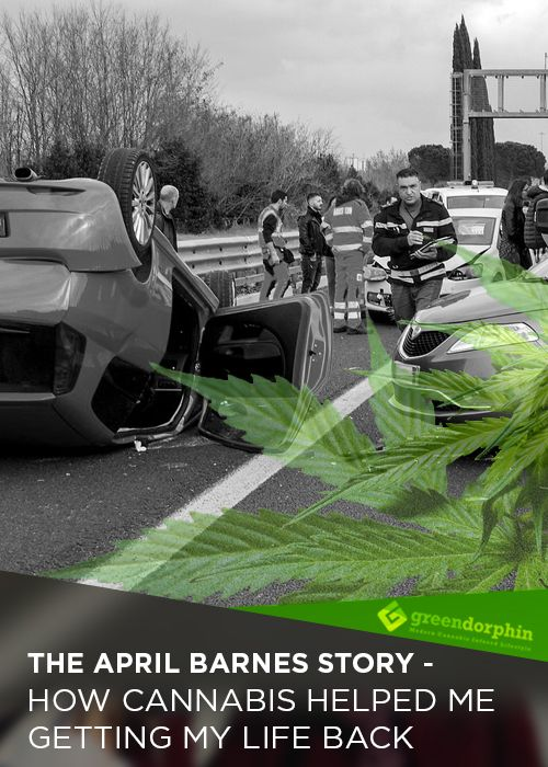 Suffered an excruciating back pain from a car accident, April felt hopeless until she tried marijuana...#cannabis