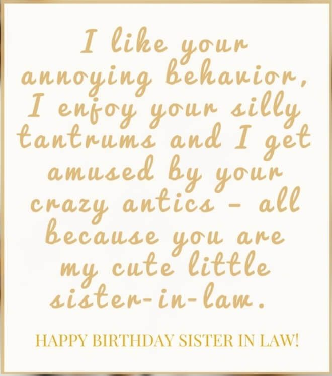 40 Happy Birthday Wishes For Sister In Law Funny Images With