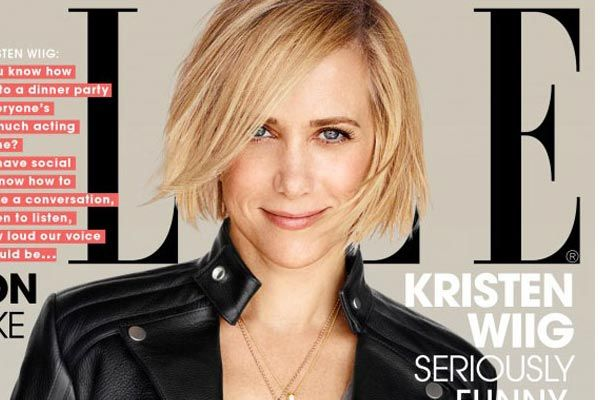 Looking for pictures of Kristen Wiig's bob haircut? Here is her latest look in Elle Magazine plus how to style this adorable short bob for 2014.