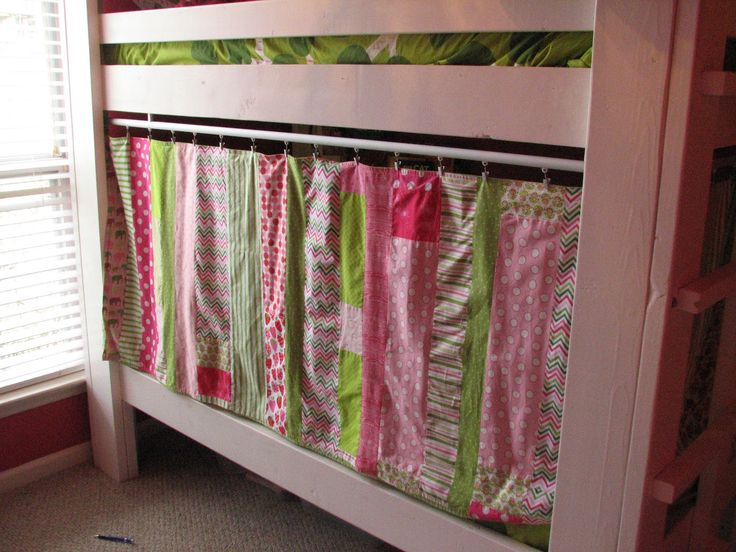 Bunk Bed Privacy And Nice Idea For Simple Bookshelf And