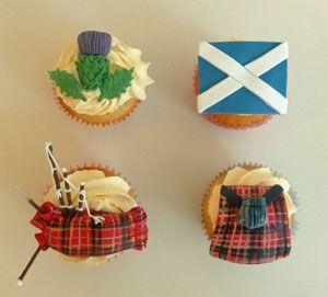 Scottish themed cupcakes