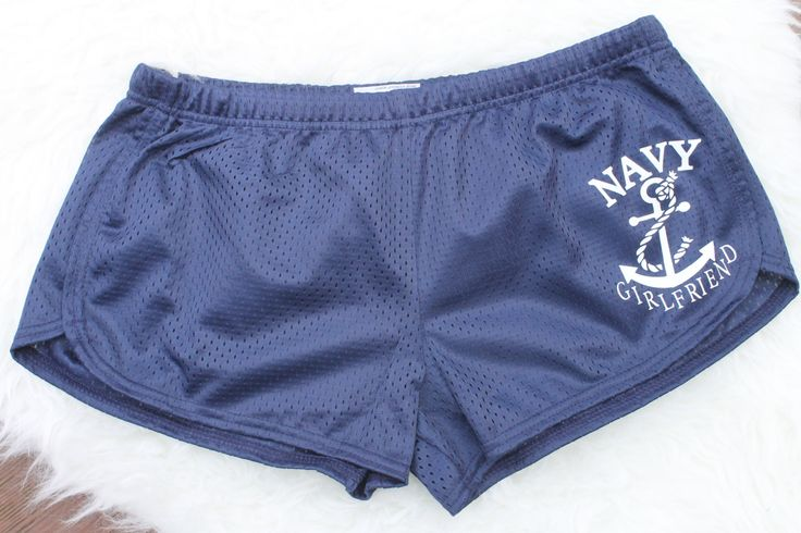 Navy girlfriend shorts! by AmyJaneBeauty on Etsy