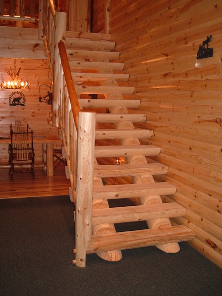 Staircases - Northern Log Supply | beam and post homes ...