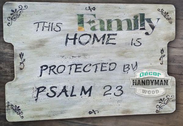Décor Handyman – Family Sign