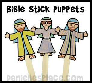 Bible Free Stick Puppet Printable Pattern For Sunday