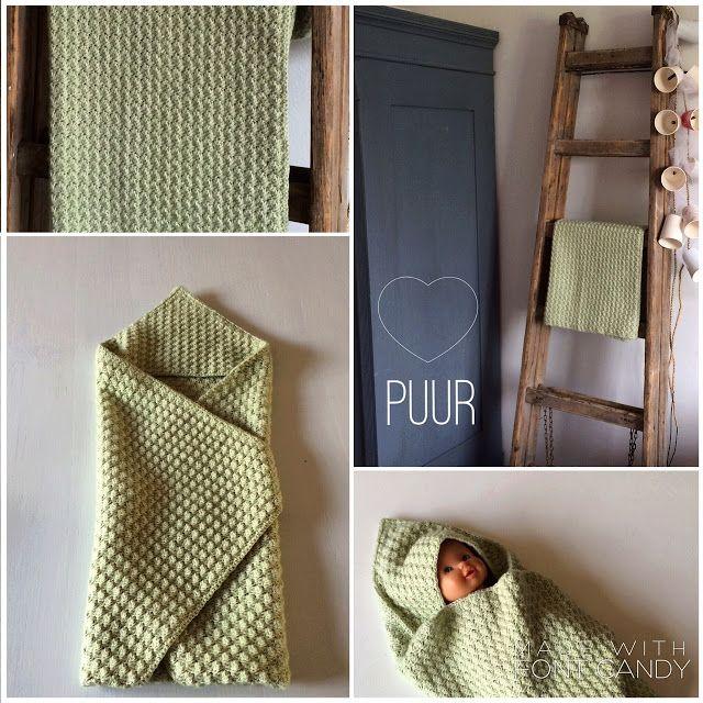 Henja: Patroon babycape - Hooded baby blanket