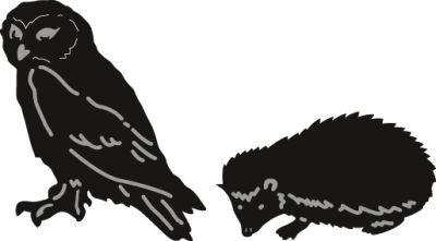 Cr1339 Craftable Tiny's owl & hedge hog