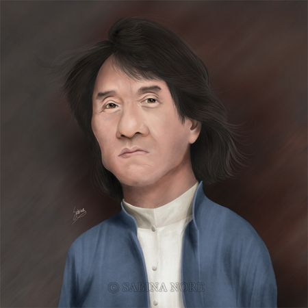 Caricature of Jackie Chan by Sabina Nore