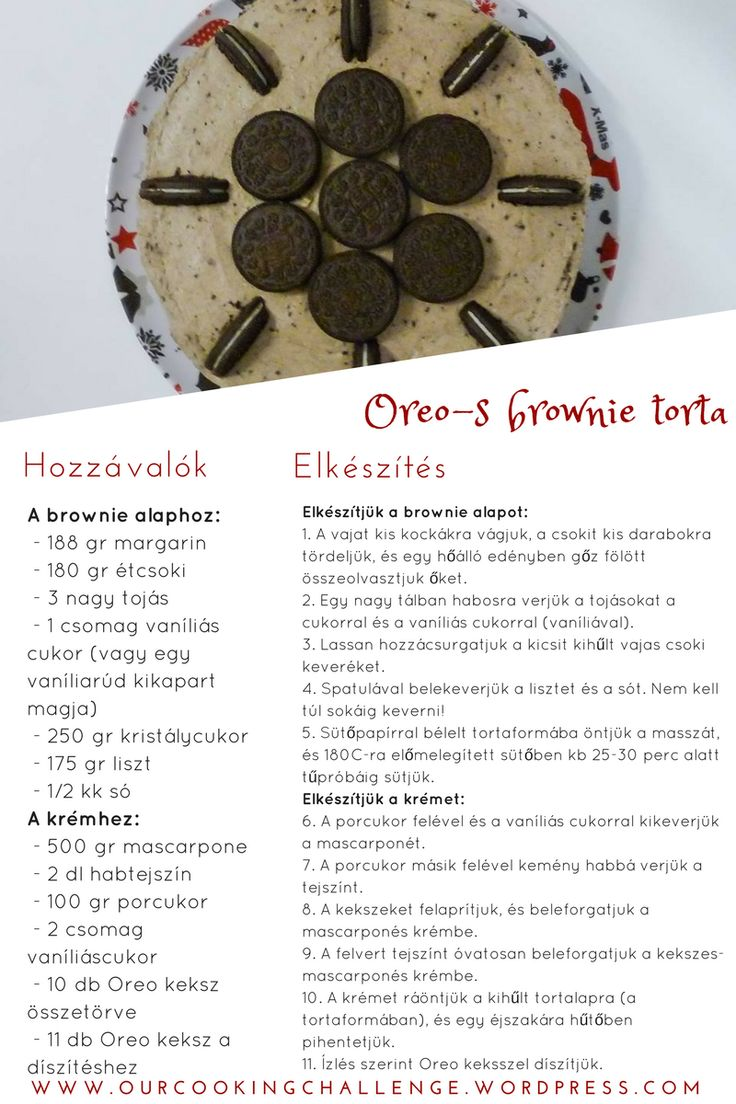 Oreos brownie torta