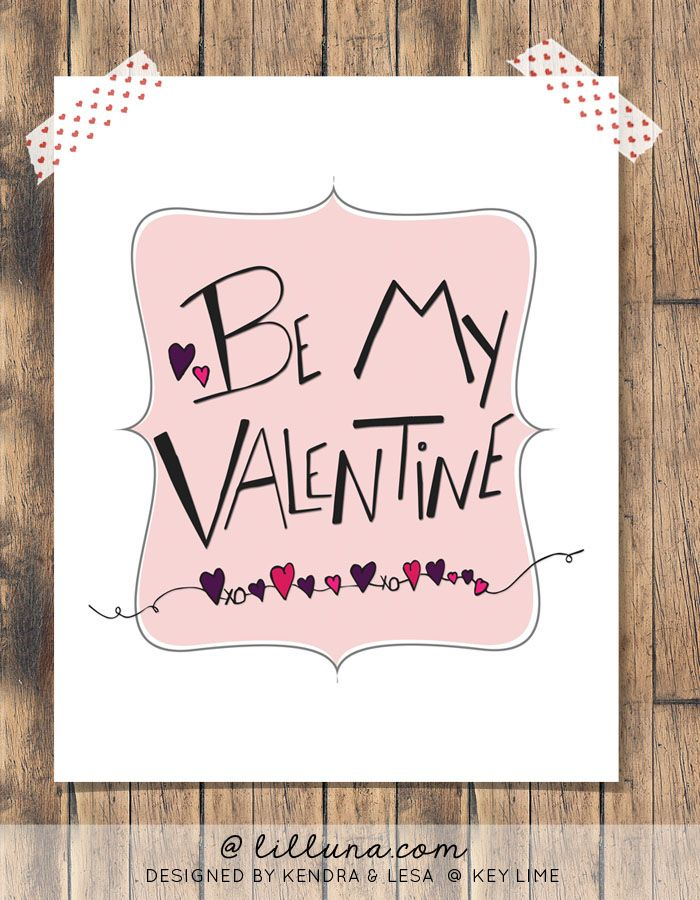 Be My Valentine Free Print on { lilluna.com } #valentines #printable