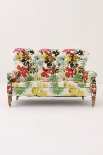 floral sofa~anthropologie