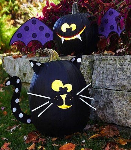 calabazas infantiles de Halloween decoradas