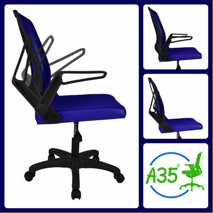 Ofisel Porto Çalışma Koltuğu Ofis Sandalyesi - Mavi