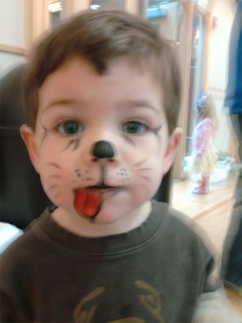 easy face painting designs for beginners | NOTE: Finn remained in focus in real life.