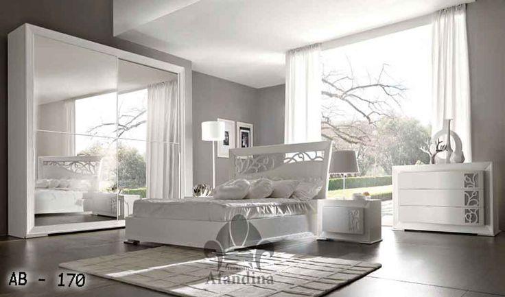 غرف نوم فرنسى للعرسان باللون الأبيض