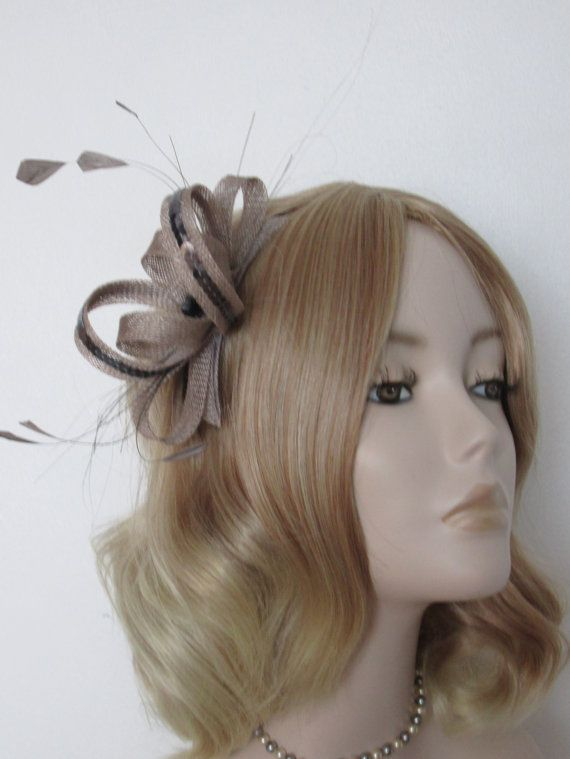 PEWTER GREY FASCINATOR Made with by FascinatorsbyMaureen on Etsy