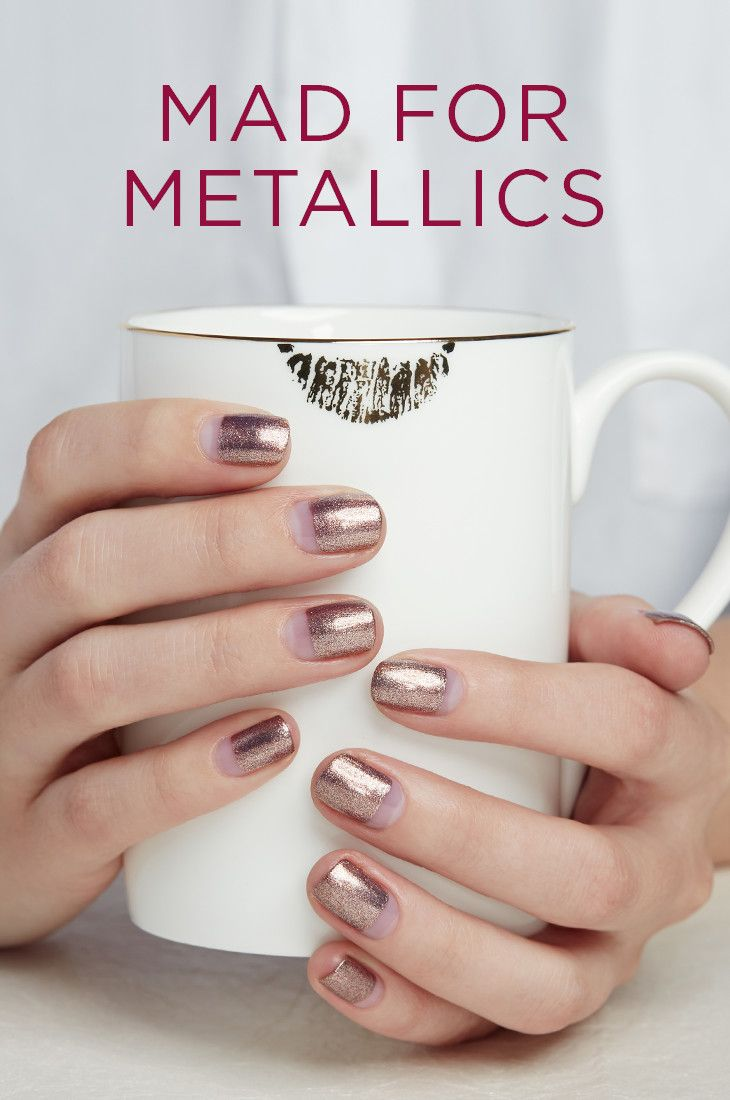 32 best Mad for Metallics images on Pinterest | Ongles, Edgy nails ...