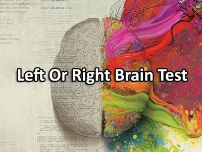 Want to know which side of your brain, left or right, is more dominant and by how much? Take this test to get the most accurate results.