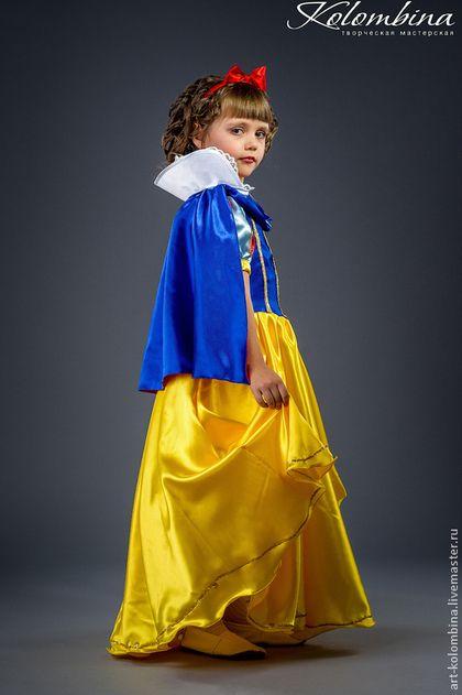 Купить или заказать Костюм Белоснежки в интернет-магазине на Ярмарке Мастеров. Карнавальный костюм Белоснежка для девочки комплектация: платье, накидка, ободок с бантом 134-146+300…