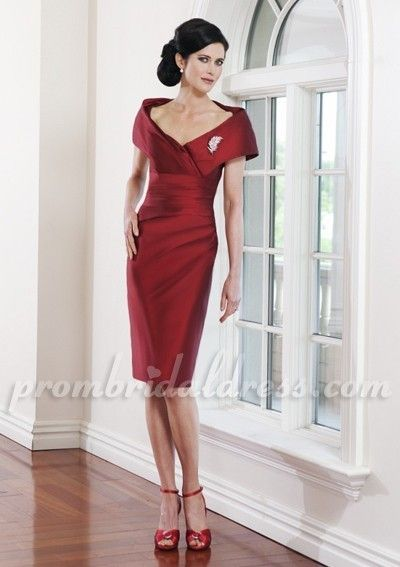The Mother of Groom Dresses Summer Red