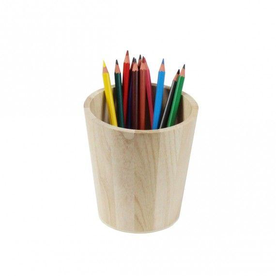 Pot A Crayon En Bois - potà crayons en bois naturel livraison en point relay On range Tout Pinterest