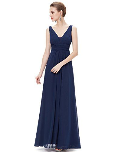 Ever Pretty Womens Double V Neck Ruched Waist Long Evening Dress 4 US Navy Blue Ever-Pretty http://www.amazon.com/dp/B00W6KT9XQ/ref=cm_sw_r_pi_dp_0JL1wb0FEW3GP