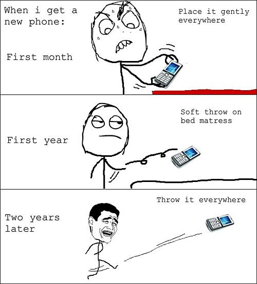 Whenever I buy a new cell phone…