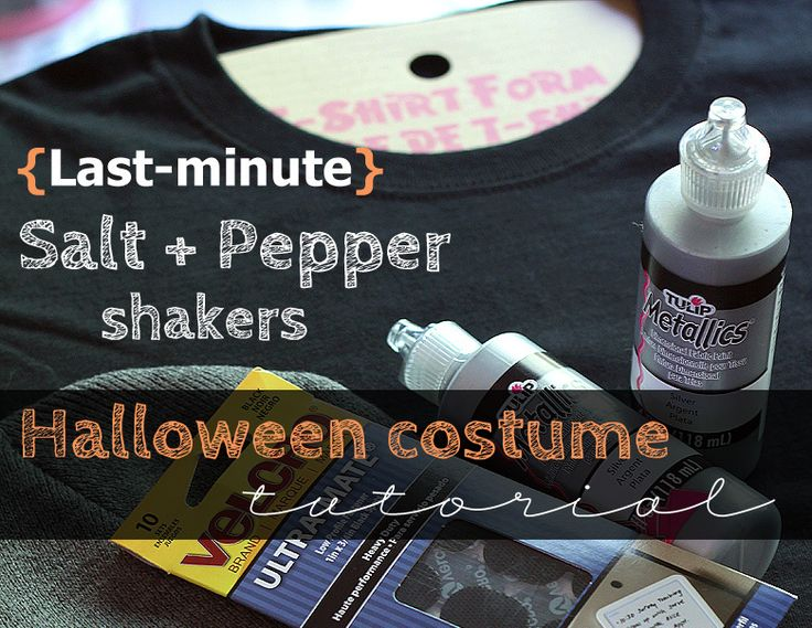 Last minute #easy #Halloween #costume idea: Salt + Pepper couple costume. Including materials and step-by-step instructions. #diy #easydiy #comfy