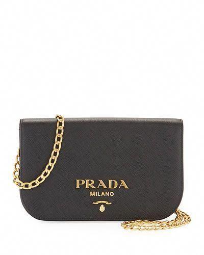 246b1e679ae9 PRADA Small Curved Flap Mini Crossbody Bag, Black. #prada #bags #shoulder  bags #leather #crossbody #lining # #Pradahandbags