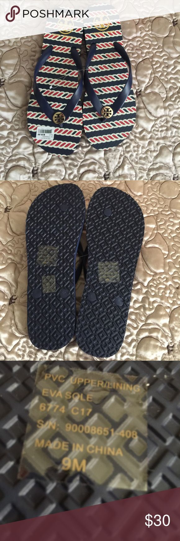 Tory Burch Flip Flops Tory Burch flip flops size 9 great condition Tory Burch Shoes Slippers