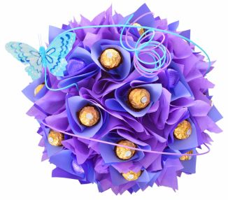 A chocolate flower bouquet for that ideal and unique gift. UK delivery and a choice of colours and designs for any occasion whether it be birthday, anniversary, get well soon. Choose from Ferrero Rocher, Chocolate Bars and Lindor Lindt to create a chocolate bouquet that will really create excitement and delight the recipient.
