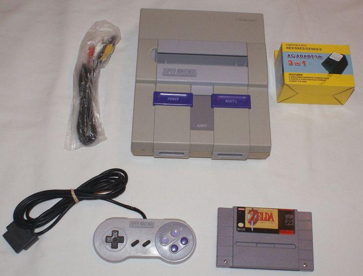 Super Nintendo Console Lot Controller Game Legend of Zelda Link to the Past SNES #Nintendo
